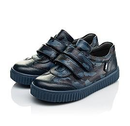 Детские кеды Woopy Orthopedic синие для мальчиков  натуральная кожа размер 18-29 (4007) Фото 4