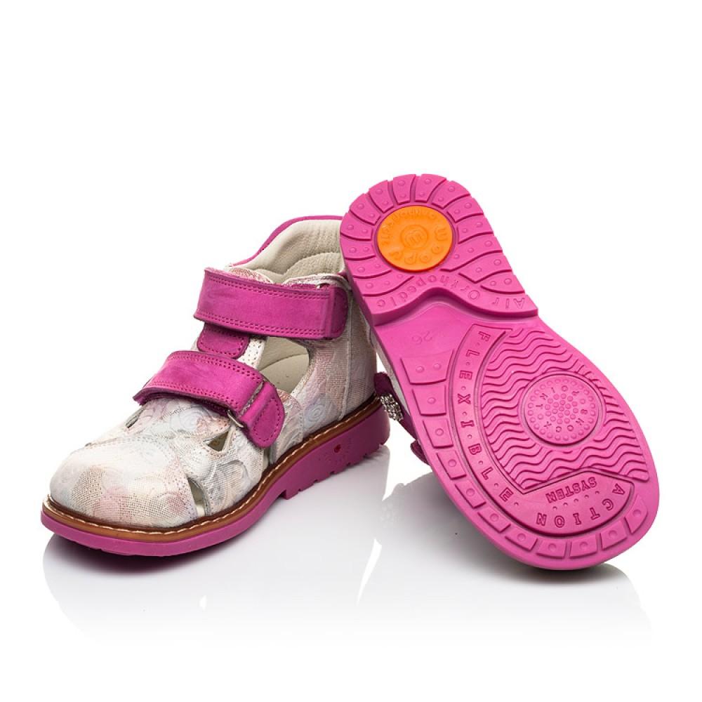 Детские закрытые ортопедические босоножки Woopy Orthopedic розовые для девочек натуральная кожа размер 18-30 (4008) Фото 2
