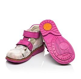 Детские закрытые ортопедические босоножки Woopy Orthopedic розовые для девочек натуральная кожа размер 18-24 (4008) Фото 2