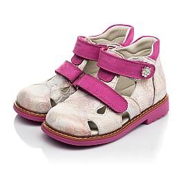 Детские закрытые ортопедические босоножки Woopy Orthopedic розовые для девочек натуральная кожа размер 18-24 (4008) Фото 3