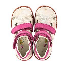 Детские закрытые ортопедические босоножки Woopy Orthopedic розовые для девочек натуральная кожа размер 18-24 (4008) Фото 5