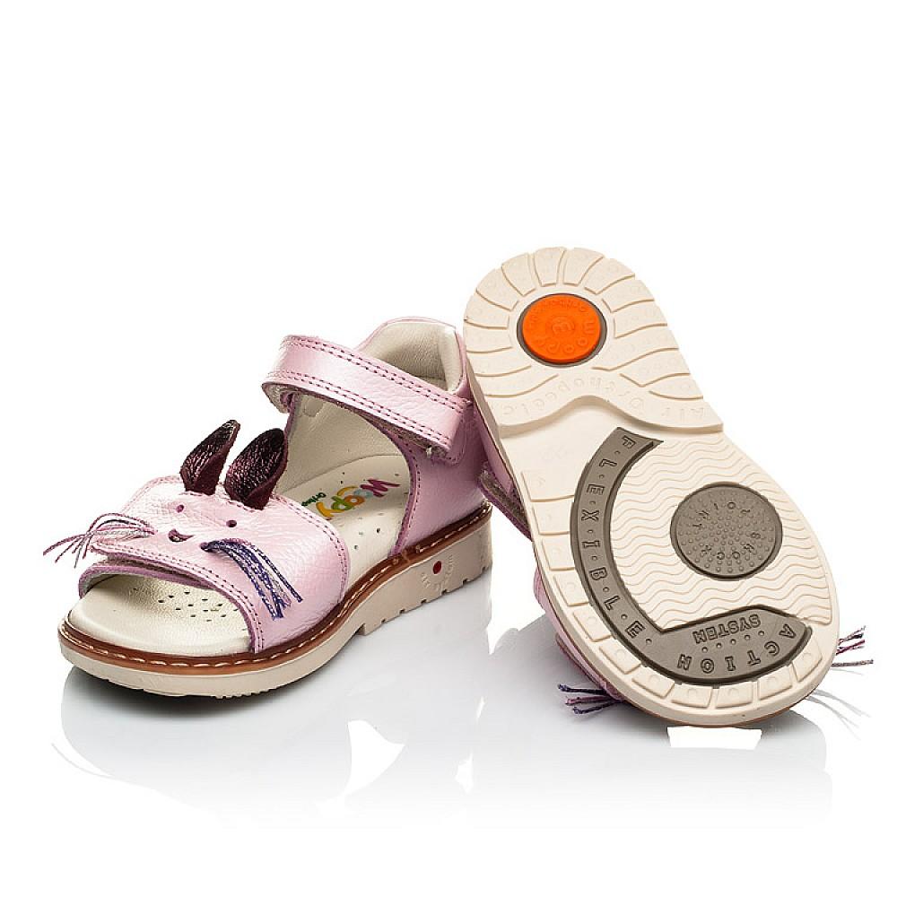 Детские ортопедические босоножки Woopy Orthopedic розовые для девочек натуральная кожа размер 18-25 (4009) Фото 2