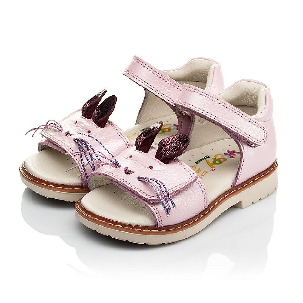 Детские ортопедические босоножки Woopy Orthopedic розовые для девочек натуральная кожа размер 18-25 (4009) Фото 3