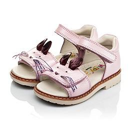 Детские ортопедические босоножки Woopy Orthopedic розовые для девочек натуральная кожа размер 18-18 (4009) Фото 3