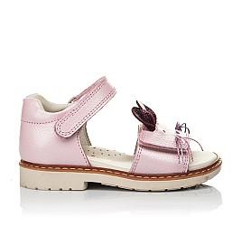 Детские ортопедические босоножки Woopy Orthopedic розовые для девочек натуральная кожа размер 18-18 (4009) Фото 4