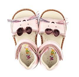 Детские ортопедические босоножки Woopy Orthopedic розовые для девочек натуральная кожа размер 18-25 (4009) Фото 5