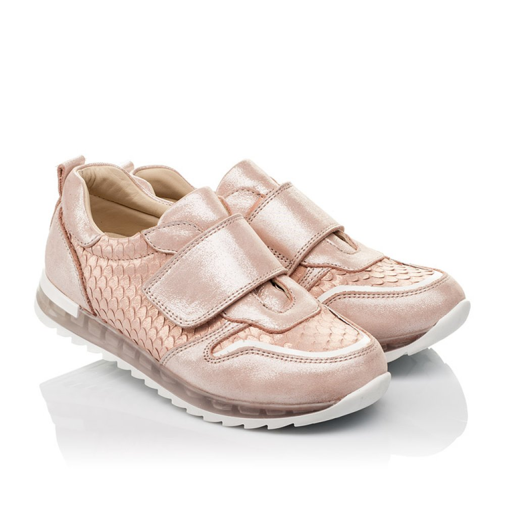 Детские кроссовки Woopy Orthopedic пудровые для девочек натуральный нубук размер 31-39 (4010) Фото 1