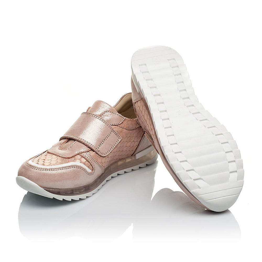 Детские кроссовки Woopy Orthopedic пудровые для девочек натуральный нубук размер 31-39 (4010) Фото 2