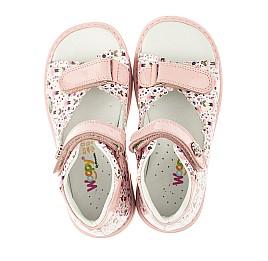 Детские ортопедические босоножки Woopy Orthopedic розовые для девочек натуральная кожа размер 23-23 (4011) Фото 5