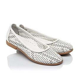Детские туфли Woopy Orthopedic белые для девочек  натуральная кожа размер 26-40 (4012) Фото 1