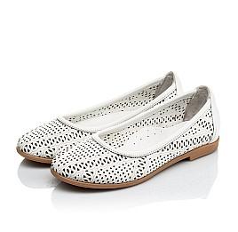 Детские туфли Woopy Orthopedic белые для девочек  натуральная кожа размер 26-40 (4012) Фото 3