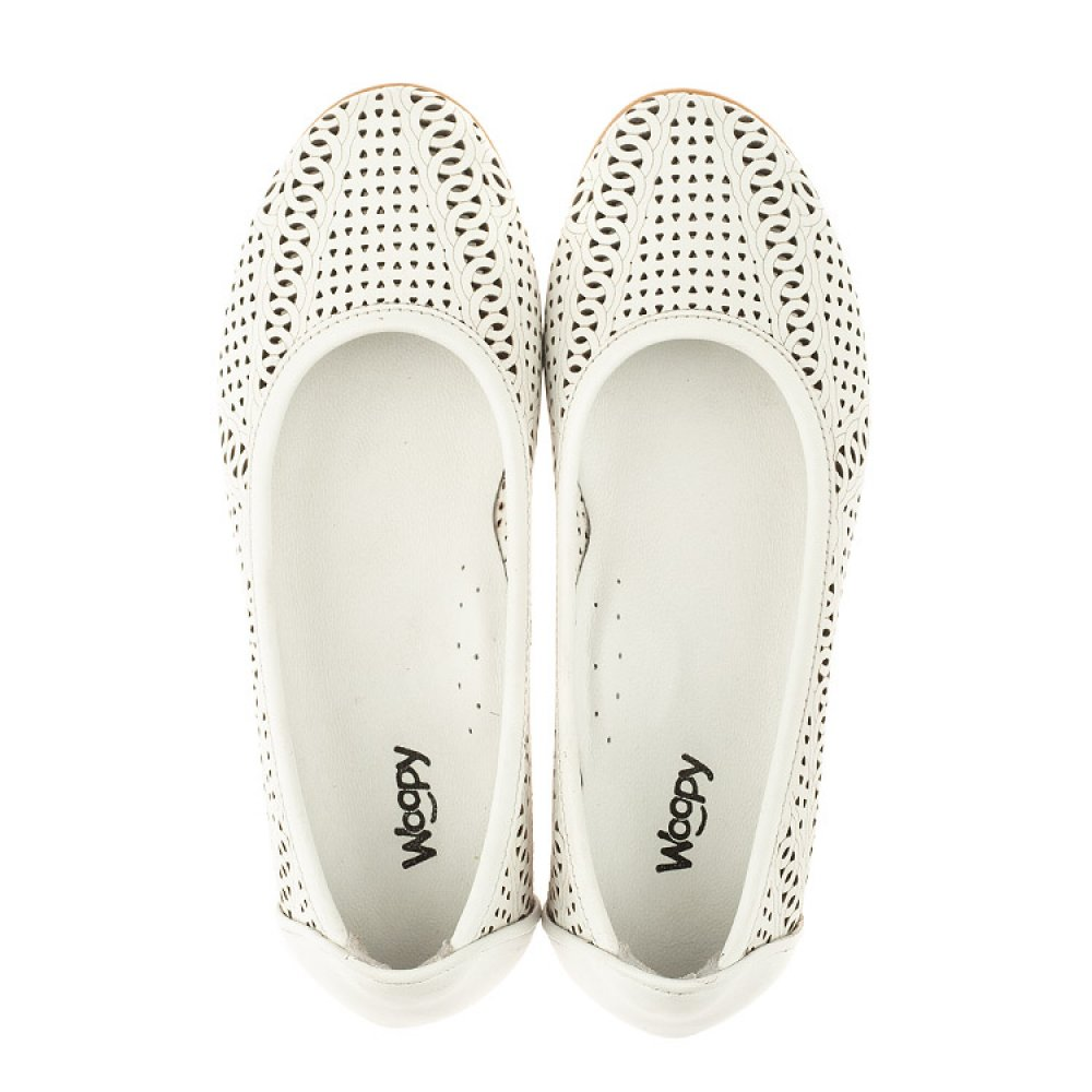 Детские туфли Woopy Orthopedic белые для девочек натуральная кожа размер 26-40 (4012) Фото 5