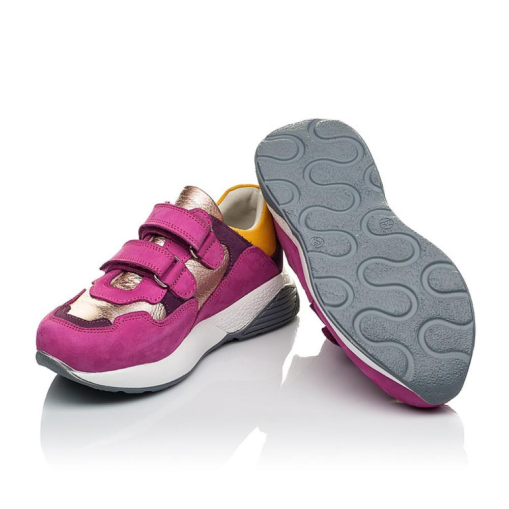 Детские кроссовки Woopy Orthopedic малиновые для девочек натуральный нубук размер 26-37 (4014) Фото 2