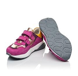 Детские кроссовки Woopy Orthopedic малиновые для девочек натуральный нубук размер 29-36 (4014) Фото 2