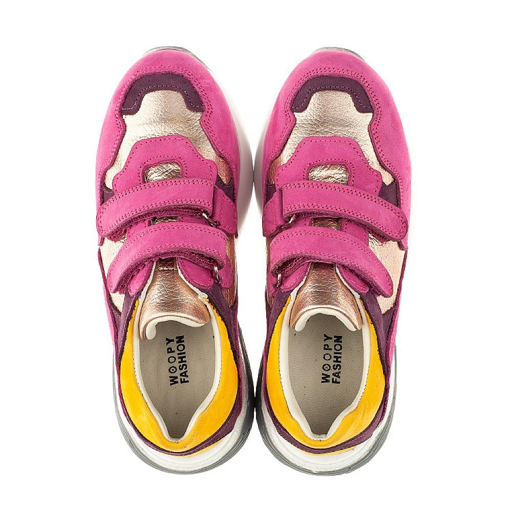 Детские кроссовки Woopy Orthopedic малиновые для девочек натуральный нубук размер 26-37 (4014) Фото 5