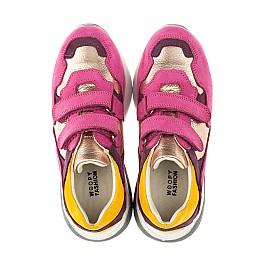 Детские кроссовки Woopy Orthopedic малиновые для девочек натуральный нубук размер 29-36 (4014) Фото 5