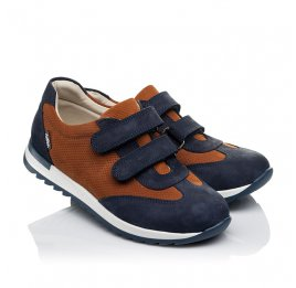 Детские кроссовки Woopy Orthopedic темно-синие для мальчиков натуральный нубук размер 39-39 (4015) Фото 1