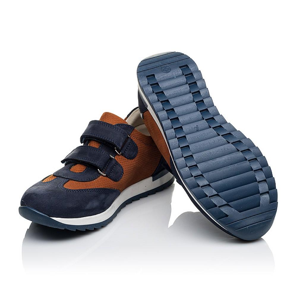 Детские кроссовки Woopy Orthopedic темно-синие для мальчиков натуральный нубук размер 26-40 (4015) Фото 2