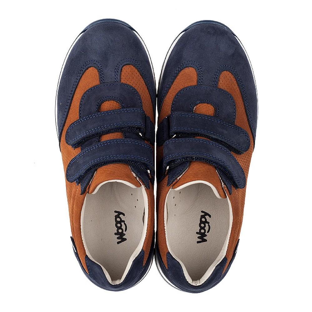 Детские кроссовки Woopy Orthopedic темно-синие для мальчиков натуральный нубук размер 26-40 (4015) Фото 5