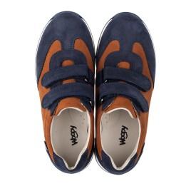 Детские кросівки Woopy Orthopedic темно-синие для мальчиков натуральный нубук размер 39-39 (4015) Фото 5