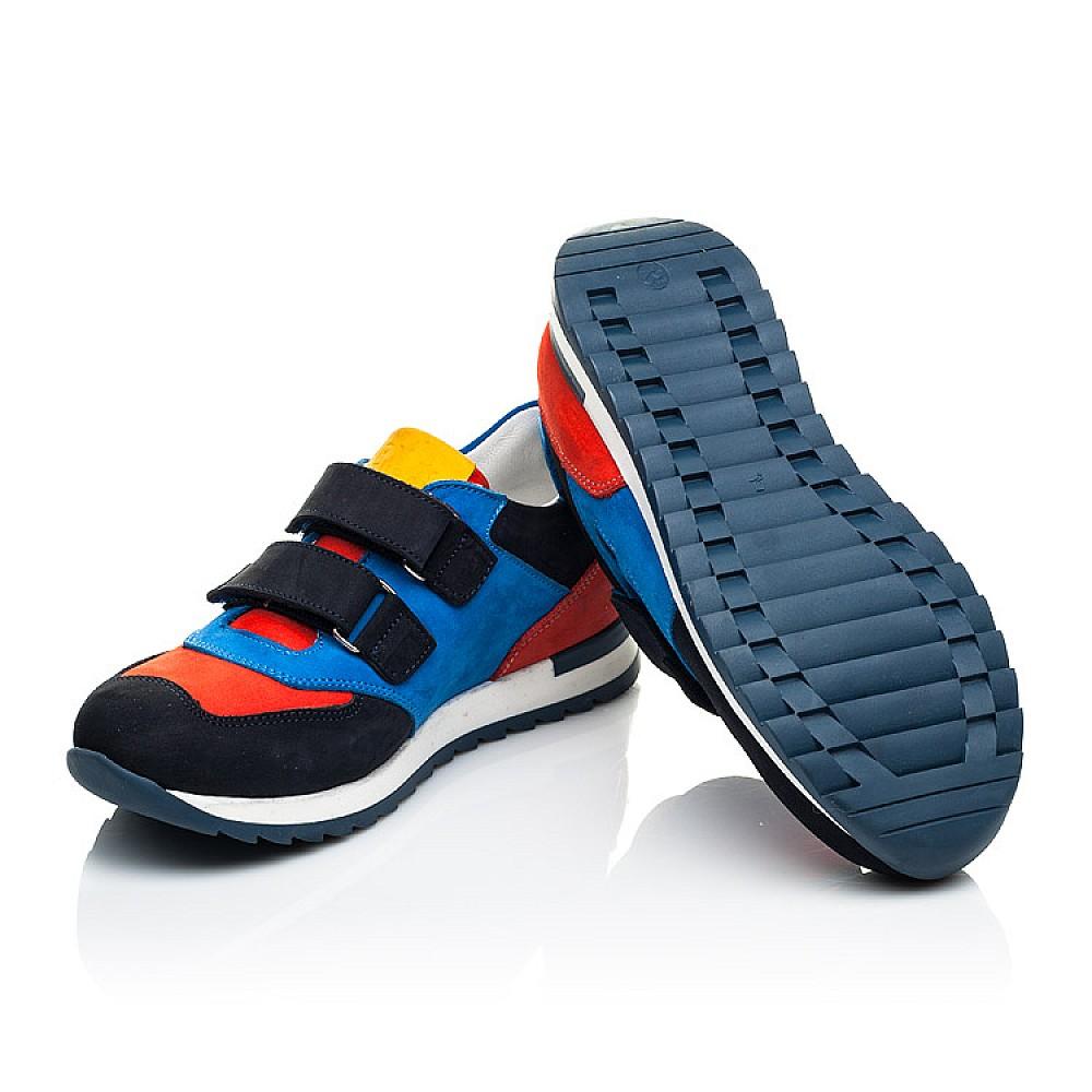 Детские кроссовки Woopy Orthopedic синие для мальчиков натуральный нубук размер 31-37 (4017) Фото 2