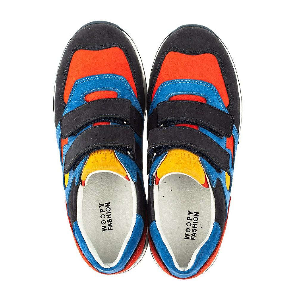 Детские кроссовки Woopy Orthopedic синие для мальчиков натуральный нубук размер 31-37 (4017) Фото 5