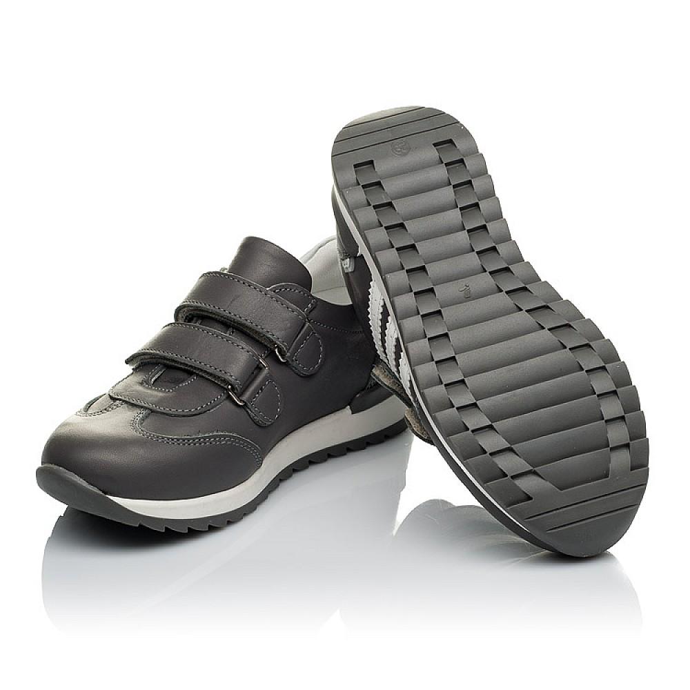 Детские кроссовки Woopy Orthopedic серые для мальчиков натуральная кожа размер 24-34 (4018) Фото 2