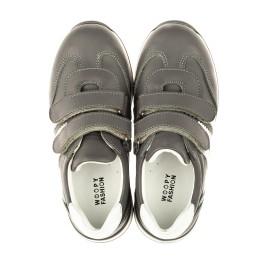 Детские кроссовки Woopy Orthopedic серые для мальчиков натуральная кожа размер 24-34 (4018) Фото 5