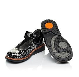 Детские туфли ортопедические Woopy Orthopedic черные, серебряные для девочек натуральная лаковая кожа размер 28-36 (4019) Фото 2