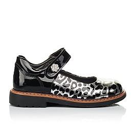 Детские туфли ортопедические Woopy Orthopedic черные, серебряные для девочек натуральная лаковая кожа размер 28-36 (4019) Фото 4