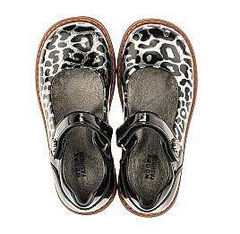 Детские туфли ортопедические Woopy Orthopedic черные, серебряные для девочек натуральная лаковая кожа размер 28-36 (4019) Фото 5
