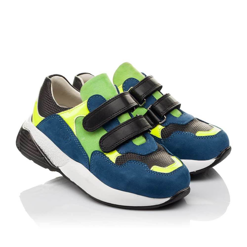 Детские кроссовки Woopy Orthopedic синие для мальчиков натуральный нубук размер 27-37 (4022) Фото 1