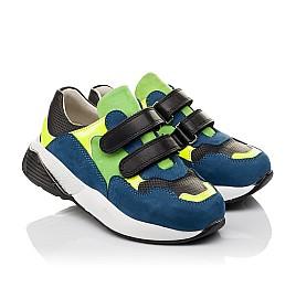 Детские кроссовки Woopy Orthopedic синие для мальчиков натуральный нубук размер 36-37 (4022) Фото 1