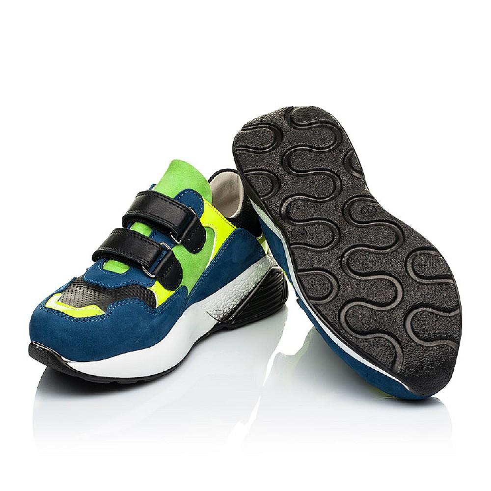 Детские кроссовки Woopy Orthopedic синие для мальчиков натуральный нубук размер 27-37 (4022) Фото 2
