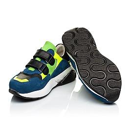 Детские кроссовки Woopy Orthopedic синие для мальчиков натуральный нубук размер 36-37 (4022) Фото 2