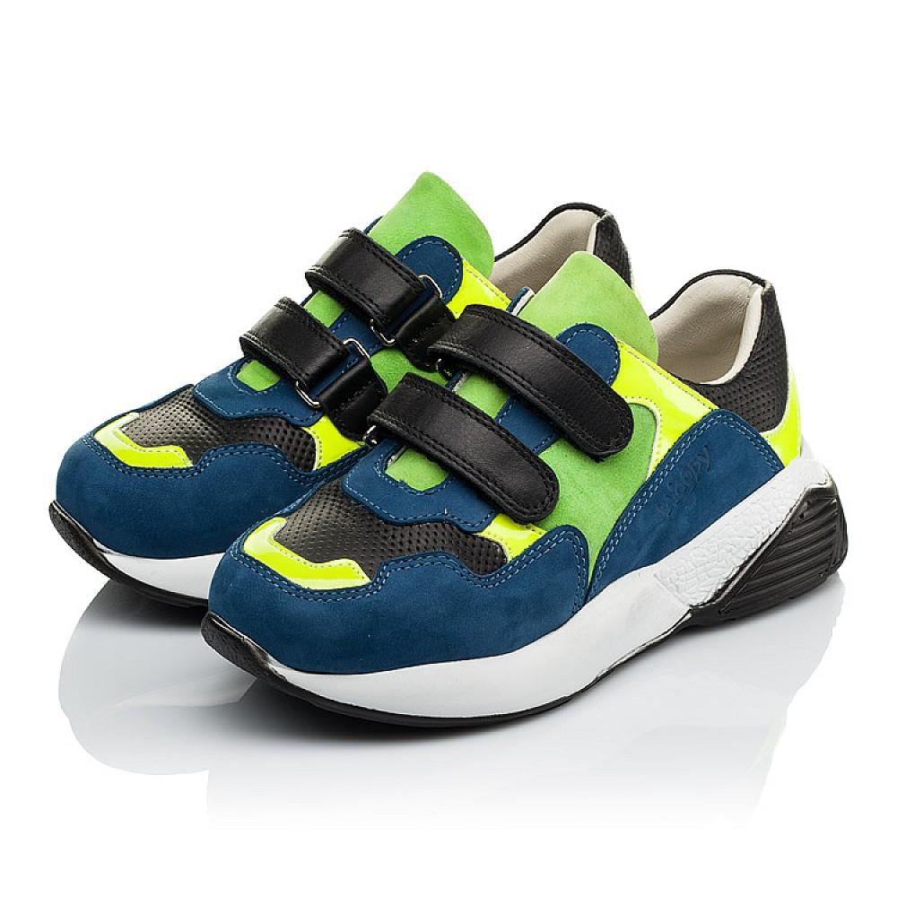 Детские кроссовки Woopy Orthopedic синие для мальчиков натуральный нубук размер 27-37 (4022) Фото 3