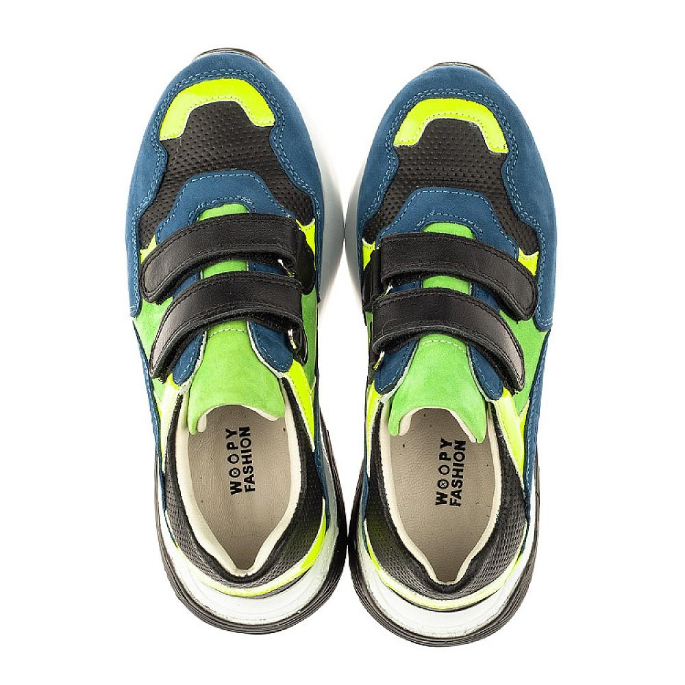 Детские кроссовки Woopy Orthopedic синие для мальчиков натуральный нубук размер 27-37 (4022) Фото 5