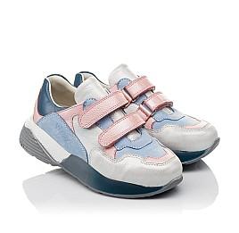 Детские кроссовки Woopy Orthopedic голубые для девочек натуральная кожа и нубук размер 26-40 (4025) Фото 1