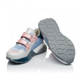 Детские кроссовки Woopy Orthopedic голубые для девочек натуральная кожа и нубук размер 26-40 (4025) Фото 2
