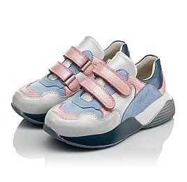 Детские кроссовки Woopy Orthopedic голубые для девочек натуральная кожа и нубук размер 26-40 (4025) Фото 3