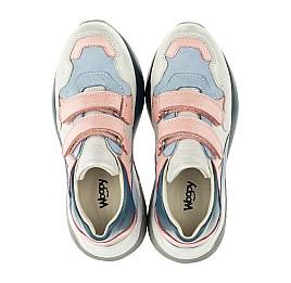 Детские кроссовки Woopy Orthopedic голубые для девочек натуральная кожа и нубук размер 26-40 (4025) Фото 5