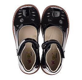 Детские туфли ортопедические Woopy Orthopedic черные для девочек натуральная лаковая кожа и нубук размер 31-35 (4026) Фото 5