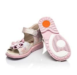Детские ортопедические босоножки Woopy Orthopedic розовые для девочек натуральный нубук размер 26-35 (4027) Фото 2