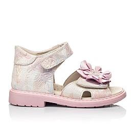 Детские ортопедические босоножки Woopy Orthopedic розовые для девочек натуральный нубук размер 26-35 (4027) Фото 4