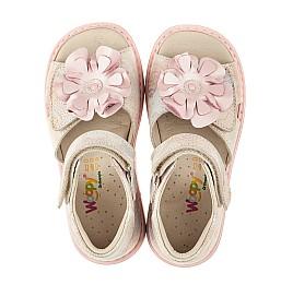 Детские ортопедические босоножки Woopy Orthopedic розовые для девочек натуральный нубук размер 26-35 (4027) Фото 5