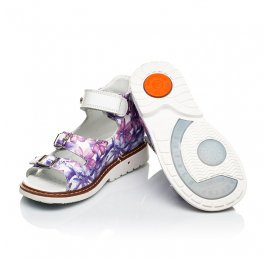 Детские ортопедические босоножки Woopy Orthopedic фиолетовые для девочек натуральная кожа размер 21-23 (4028) Фото 2