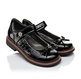 Детские туфли ортопедические Woopy Orthopedic черные для девочек натуральная лаковая кожа размер 28-36 (4029) Фото 1