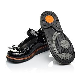 Детские туфли ортопедические Woopy Orthopedic черные для девочек натуральная лаковая кожа размер 28-36 (4029) Фото 2