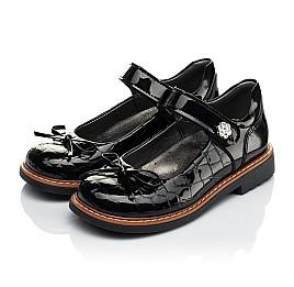 Детские туфли ортопедические Woopy Orthopedic черные для девочек натуральная лаковая кожа размер 28-36 (4029) Фото 3
