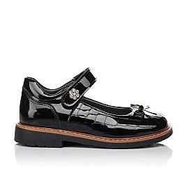 Детские туфли ортопедические Woopy Orthopedic черные для девочек натуральная лаковая кожа размер 28-36 (4029) Фото 4